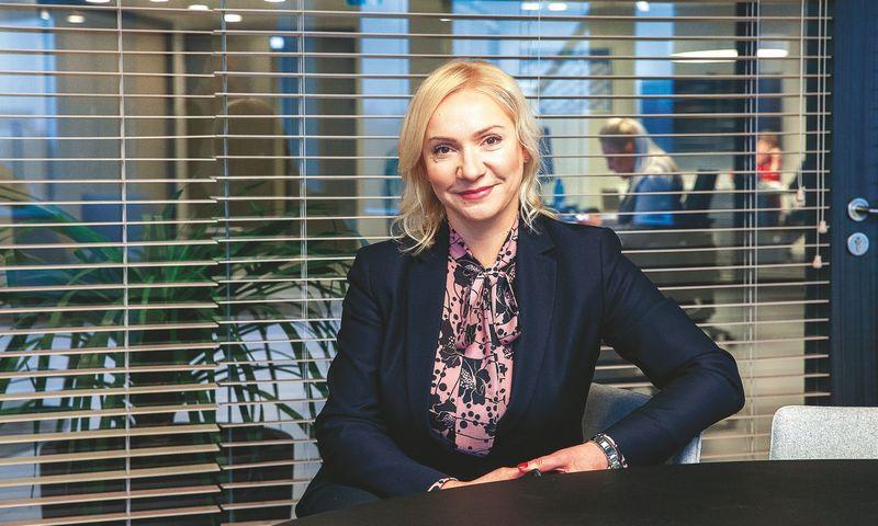 """Eglė Radžiūnė, """"Lidl Lietuvos"""" valdybos narė ir administracijos tarnybos vadovė: """"Mūsų tikslas buvo pasiūlyti tiekėjams novatorišką finansavimo priemonę, kuri būtų ne tik patraukli kaina, bet ir naudojimosi paprastumu."""" Juditos Grigelytės (VŽ) nuotr."""