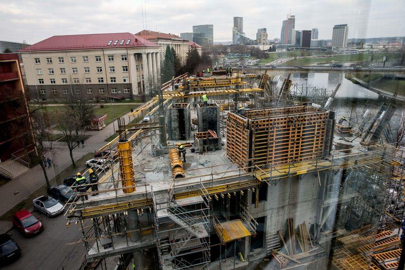 """""""Green Hall 3"""" statybos Upės g. 21 Vilniuje. Juditos Grigelytės (VŽ) nuotr."""