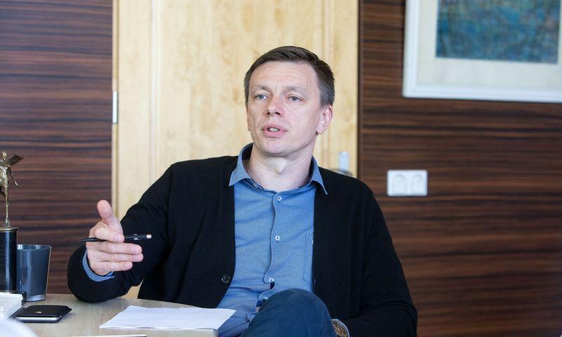 """Evaldas Sauliūnas, UAB """"Kauno stiklas"""" vadovas: """"Taip, bendras stiklo taros paklausos augimas yra, tačiau nežinome, kiek jis tvarus."""" Vladimiro Ivanovo (VŽ) nuotr."""