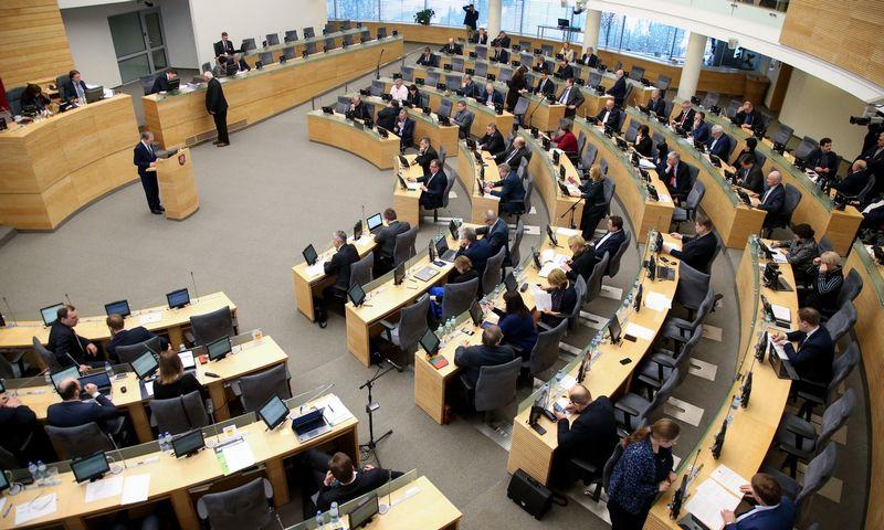 Seimas balsų dauguma pritarė Turto civilinio konfiskavimo įstatymo projekto pateikimui. Vladimiro Ivanovo (VŽ) nuotr.