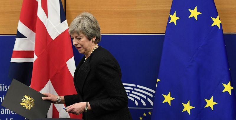 "Theresa May, JK premjerė. Fredericko Florino (AFP /""Scanpix"") nuotr."