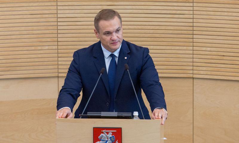 Vidaus reikalų ministras Eimutis Misiūnas. Juditos Grigelytės (VŽ) nuotr.
