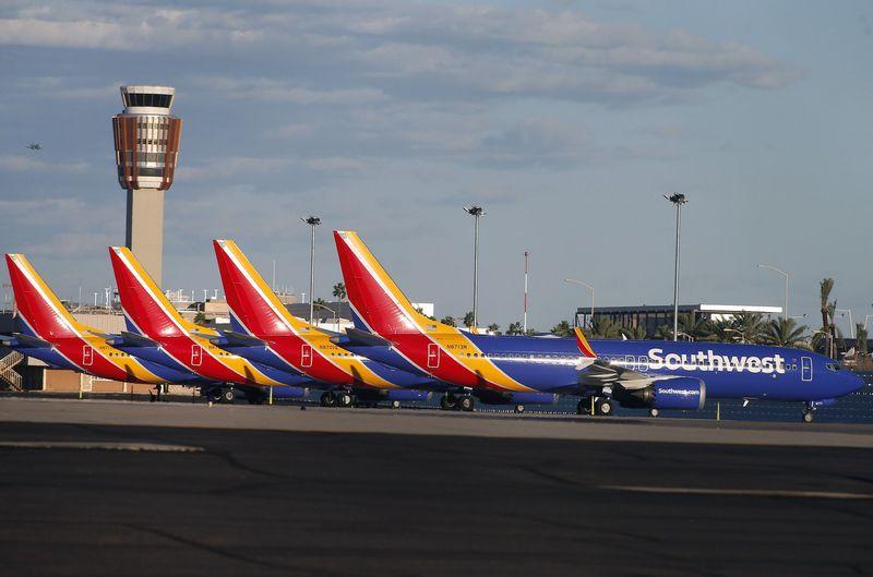 """Boeing 737 MAX"" lėktuvų skraidymas sustabdytas visame pasaulyje. AFP / ""Scanpix"" nuotr."