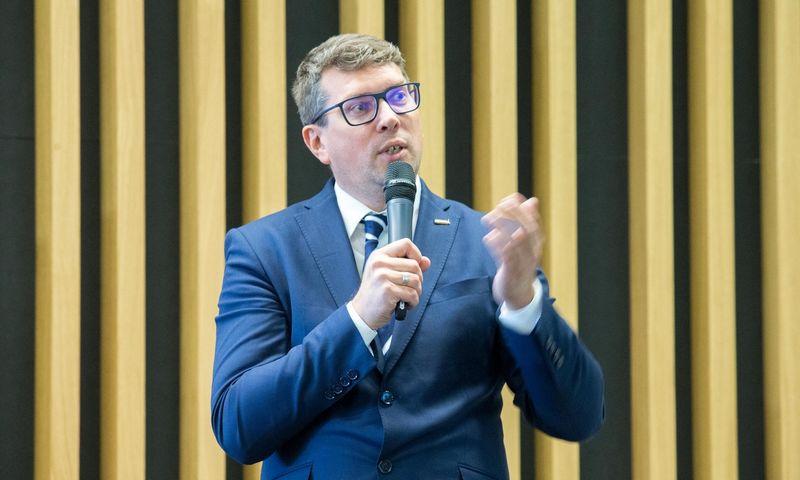 """Mindaugas Kulbokas, NT paslaugų bendrovės """"Newsec"""" Tyrimų ir analizės grupės vadovas. Juditos Grigelytės (VŽ) nuotr."""