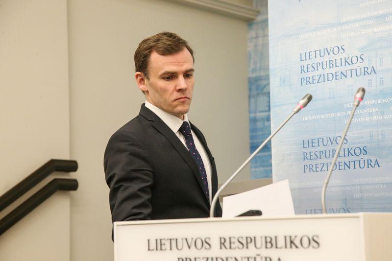 Prezidentės vyriausiasis patarėjas vidaus politikai Mindaugas Lingė. Vladimiro Ivanovo (VŽ) nuotr.