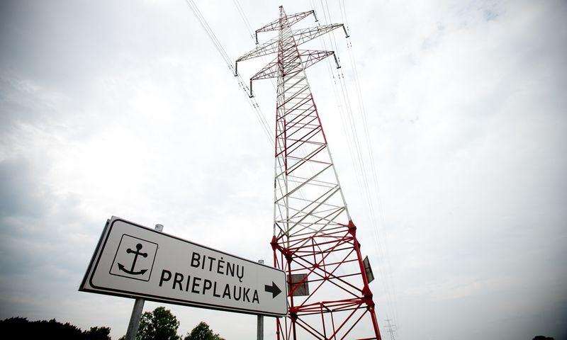 Elektros linija, jungianti Rusiją ir Lietuvą per Bitėnų elektros skirstymo punktą. Vladimiro Ivanovo (VŽ) nuotr.