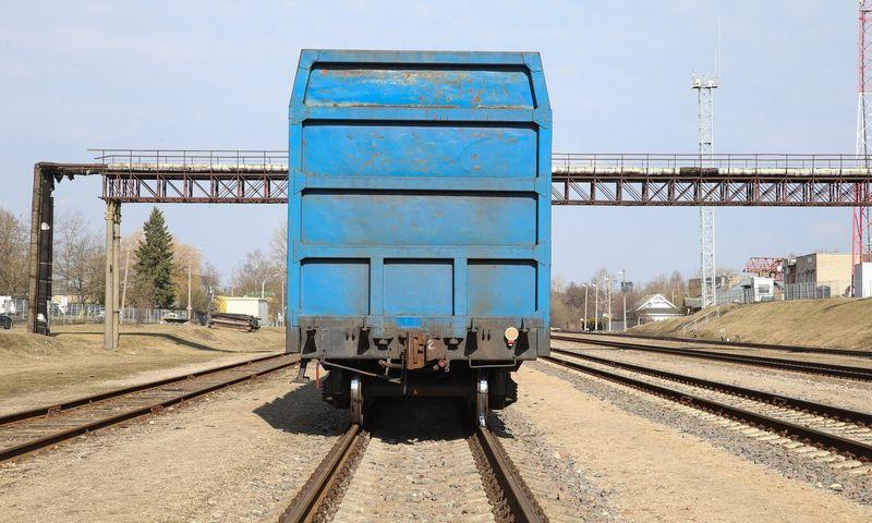 Bėgiai, vagonai. Vladimiro Ivanovo (VŽ) nuotr.