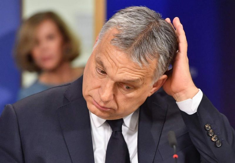 "Viktoras Orbanas. Emmanuelio Dunando (""AFP"" / ""Scanpix"") nuotr."