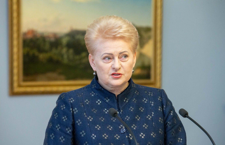 "D. Grybauskaitė įsitikinusi, kad ES nukels ""Brexit"" terminą"