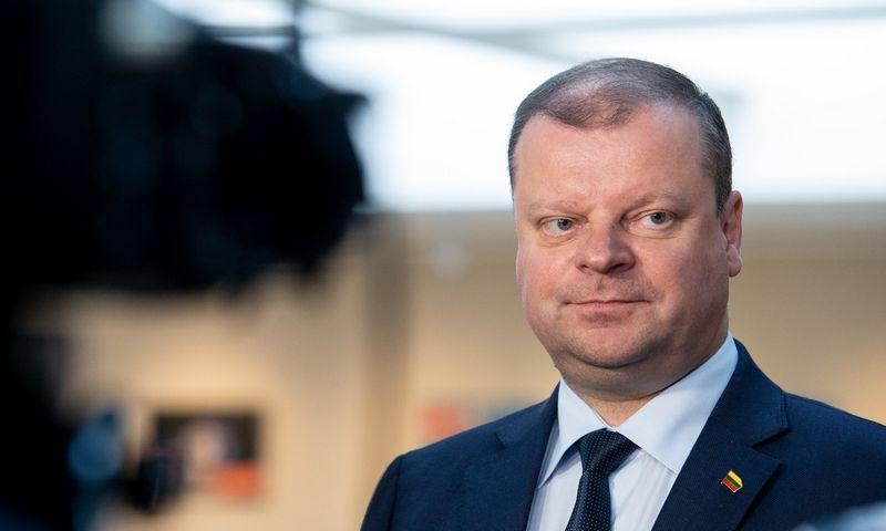 Ministras pirmininkas Saulius Skvernelis. Juditos Grigelytės (VŽ) nuotr.