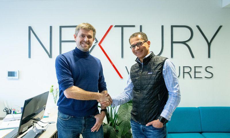 """Irvas Hendersonas, """"Talech"""" direktorius (dešinėje) ir Ilja Laursas, """"Nextury Ventures"""" valdybos pirmininkas. Juditos Grigelytės (VŽ) nuotr."""