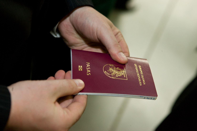 URM nori verslo pagalbos išduodant pasus