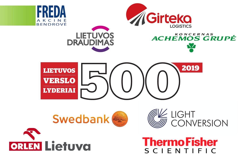 """Naujas """"Verslo žinių"""" reitingas – """"Lietuvos verslo lyderiai 500"""""""