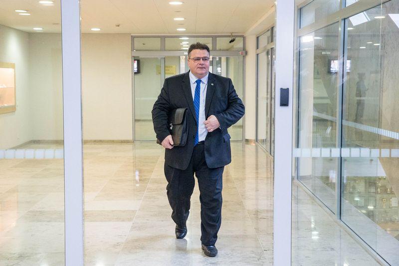 """Užsienio reikalų ministras Linas Linkevičius Seimui pristatė paketą projektų, skirtų vadinamajam """"kietajam """"Brexit"""". Juditos Grigelytės (VŽ) nuotr."""
