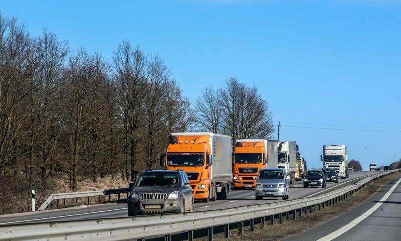 Logistikos ir transporto sektoriui praėję metai buvo ypatingai geri, o daugiau kaip pusę jo pajamų sunešė krovinių gabenimas sausuma. Vladimiro Ivanovo (VŽ) nuotr.