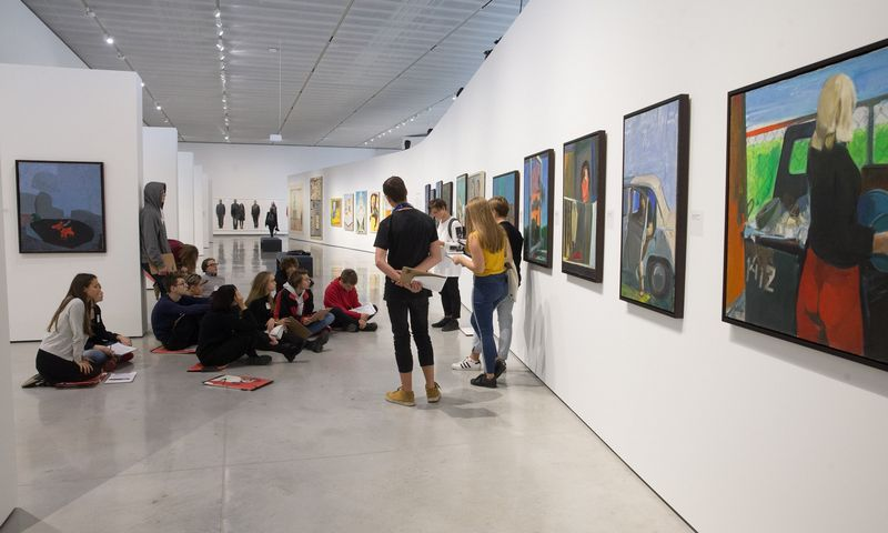 Edukacinis užsiėmimas MO muziejuje. Juditos Grigelytės (VŽ) nuotr.