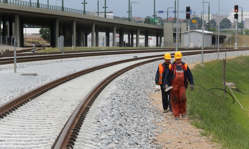 """""""Rail Baltica"""" ruožas ties Kaunu. Algimanto Barzdžiaus nuotr."""
