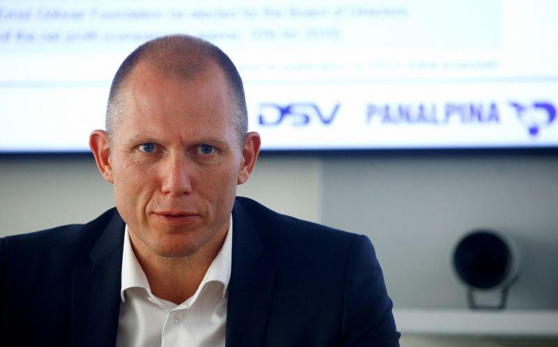 """Jensas Bjoernas Andersenas, DSV vadovas, tikino pradedantis """"sąžiningą"""" sandorį. """"Reuters"""" / """"Scanpix"""" nuotr."""