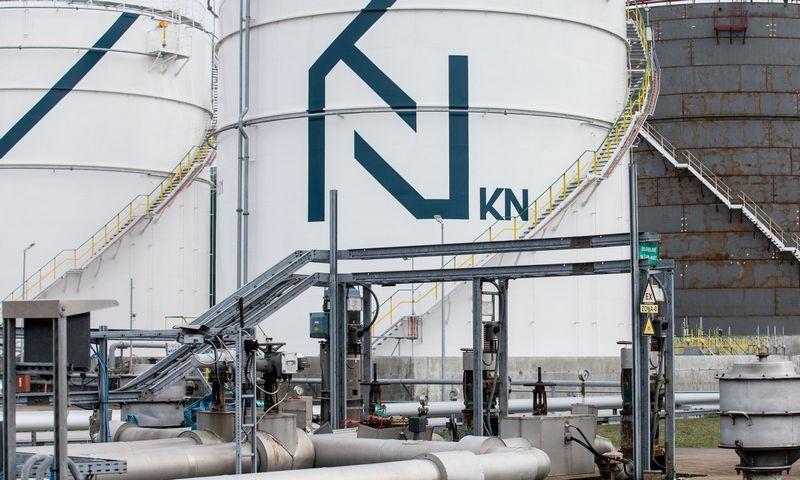 """Klaipėdos naftos"" naftos produktų talpos naftos terminale. Juditos Grigelytės (VŽ) nuotr."