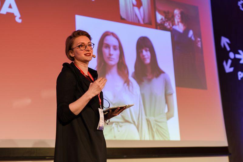 """Olga Belova, SBA strateginės rinkodaros direktorė. """"Verslo žinių"""" organizuojama metinė rinkodaros efektyvumo konferencija """"Password 2019"""". Ryčio Galadausko nuotr."""