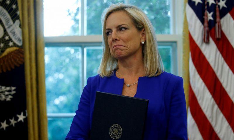 """Kirstjen Nielsen. Leah Millis (Reuters/""""Scanpix"""") nuotr."""