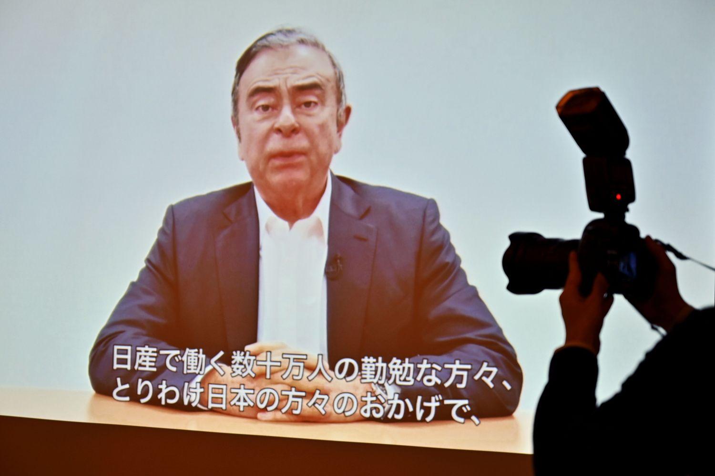 """Vėl suimtas buvęs """"Renault-Nissan-Mitsubishi"""" aljanso vadovas savo tiesą išdėstė vaizdo įraše"""