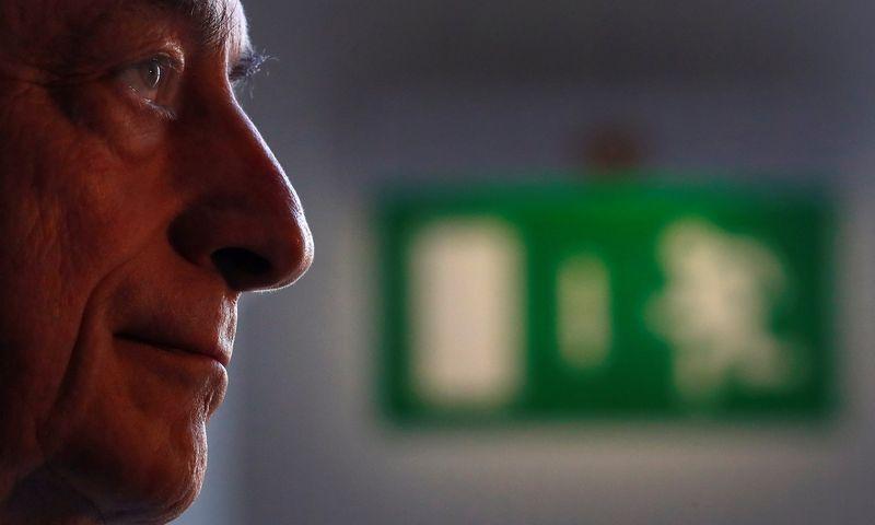"Mario Draghi, ECB prezidentas. Kai Pfaffenbach (""Reuters"" / ""Scanpix"") nuotr."