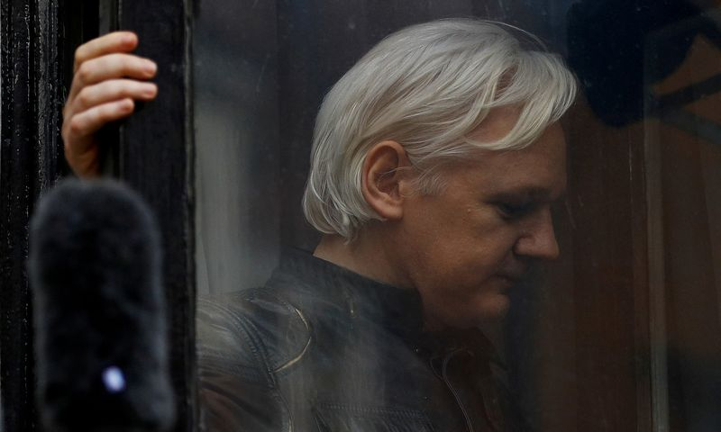 "Julianas Assange'as. Peterio Nichollso (""Scanpix"") nuotr."