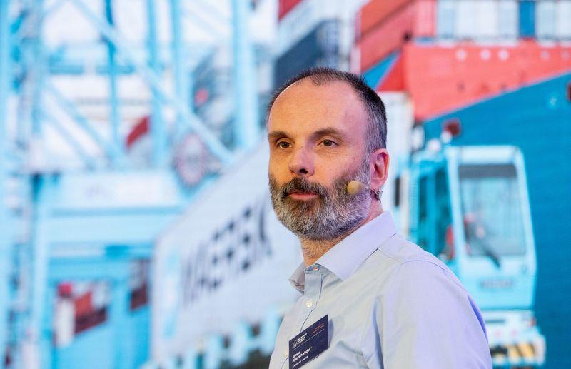 """Simonas Kiilerichas Vedelis, """"Maersk"""" skaitmeninių projektų vadovas. Juditos Grigelytės (VŽ) nuotr."""