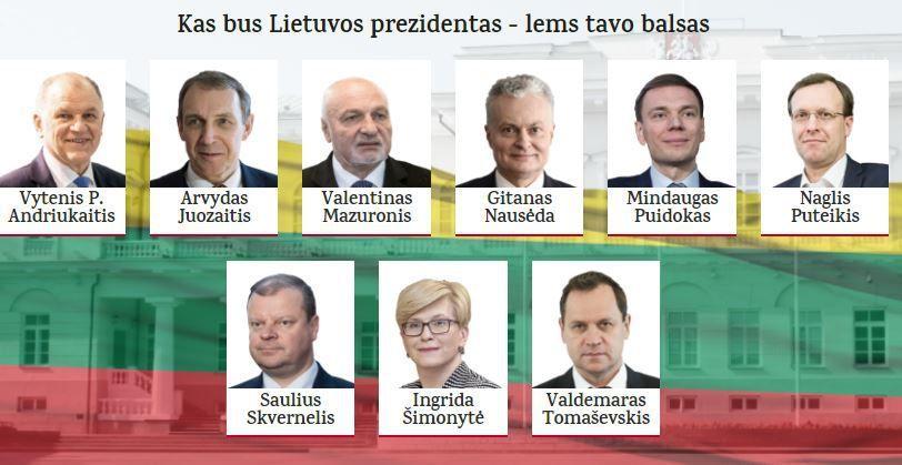 Viskas apie kandidatus į prezidentus – vienoje vietoje