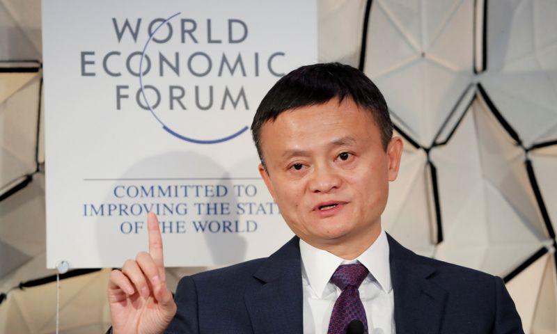 """Jackas Ma, Kinijos elektroninės prekybos milžinės """"Alibaba"""" įkūrėjas.Arndas Wiegmannas (""""Reuters"""" / """"Scanpix"""") nuotr."""