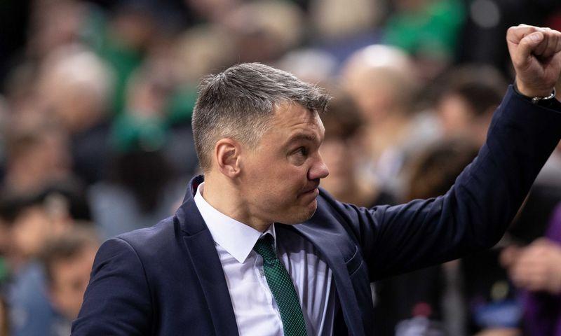 """Šarūnas Jasikevičius, """"Žalgirio"""" vyriausiasis treneris. Josvydo Elinsko (""""15min"""") nuotr."""