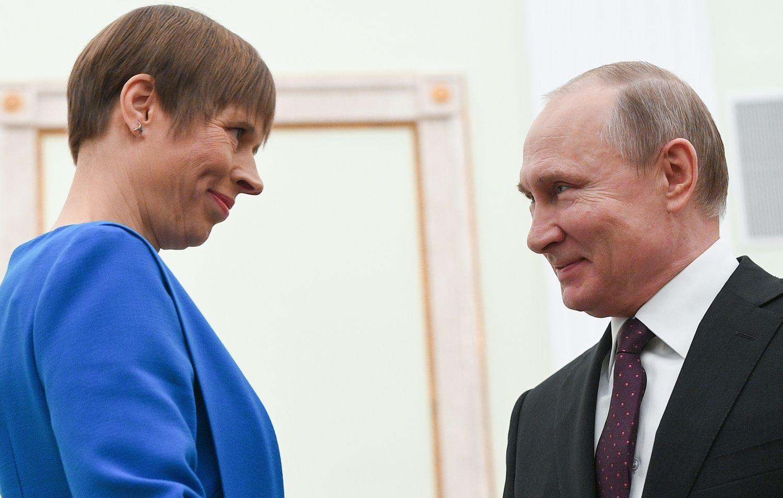 Susitiko Estijos ir Rusijos prezidentai