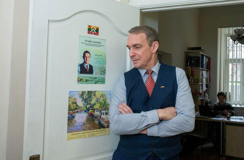 Kandidatas į prezidentus Arvydas Juozaitis. Juditos Grigelytės (VŽ) nuotr.
