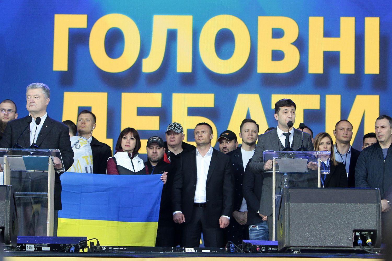 Kijevo stadione Ukrainos kandidatų į prezidentus šou