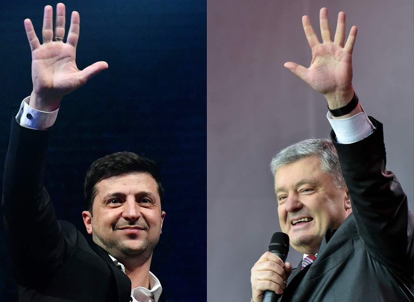 Apklausos Ukrainos prezidento rinkimuose lengvą pergalę pranašauja V. Zelenskiui