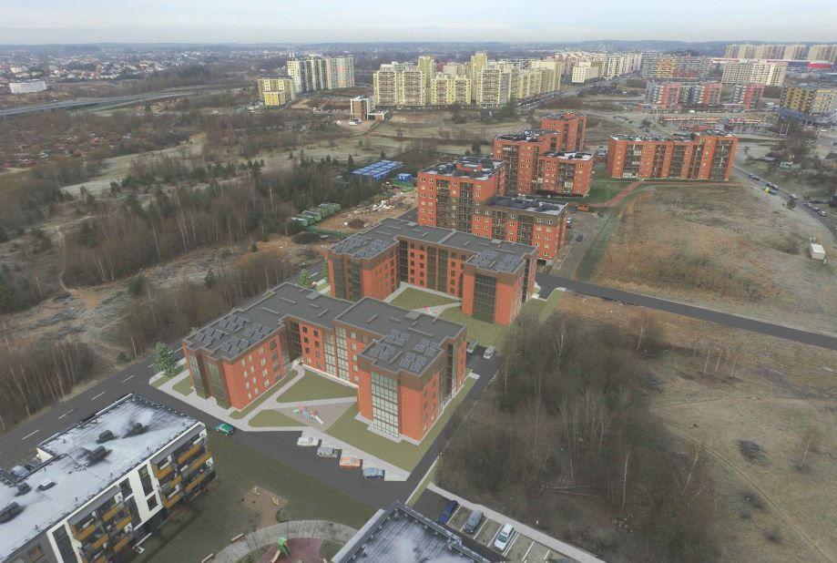 Vilniaus Pašilaičiuose planuojamas 141 buto projektas
