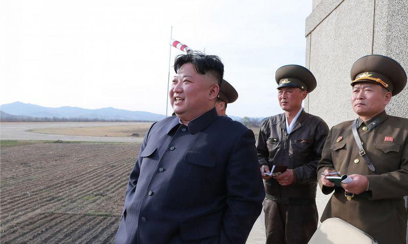 "Šiaurės Korėjos lyderis Kim Jong Unas.  AFP/""KCNA via KNS""/""Scanpic"" nuotr."