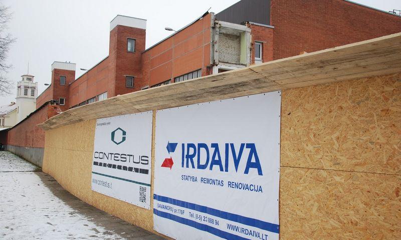 """Naujo """"Švyturio"""" kraftinio alaus linijos pastato Klaipėdoje statybos darbų pradžia 2017 m. sausį. Mildos Ancevičės nuotr."""