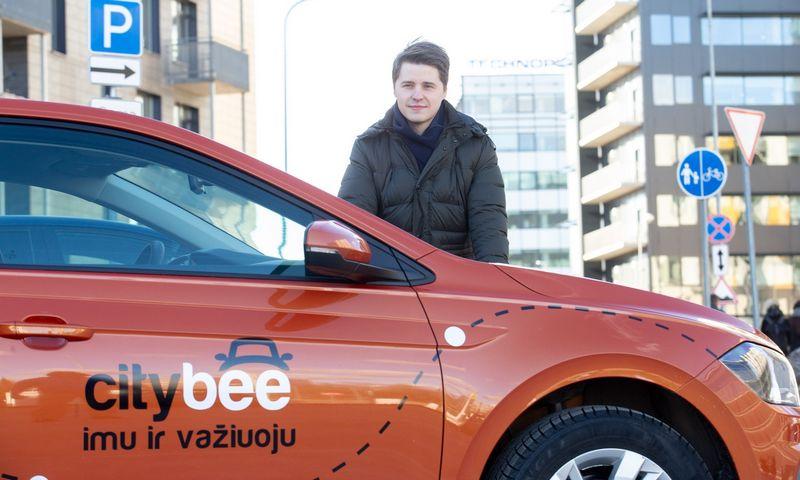 """Lukas Yla, automobilių dalijimosi platformos """"CityBee"""" vadovas: """"Automobiliai įsigyjami ne vienu ypu, o bendrovei reikalingomis reguliariomis bangomis, kurias diktuoja ir rinkos tendencijos."""" Juditos Grigelytės (VŽ) nuotr."""