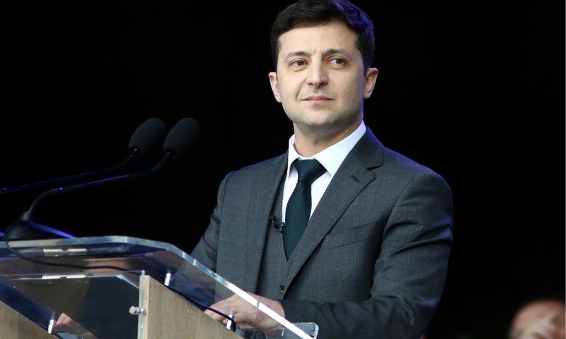 "Volodymyras Zelenskis, Ukrainos išrinktasis prezidentas. Annos Marchenko (ITAR-TASS / ""Scanpix"") nuotr."