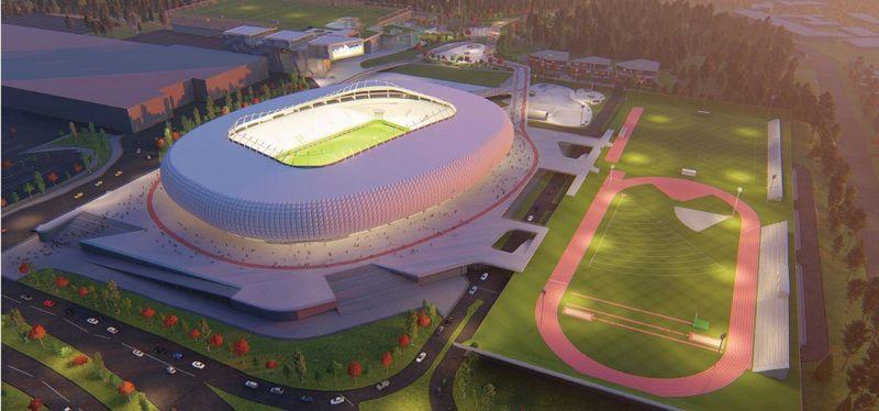 UAB Vilniaus nacionalinis stadionas pasiūlymo vizualizacija.
