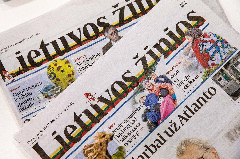 """Nutraukiama įmonės """"Lietuvos žinios"""" veikla"""