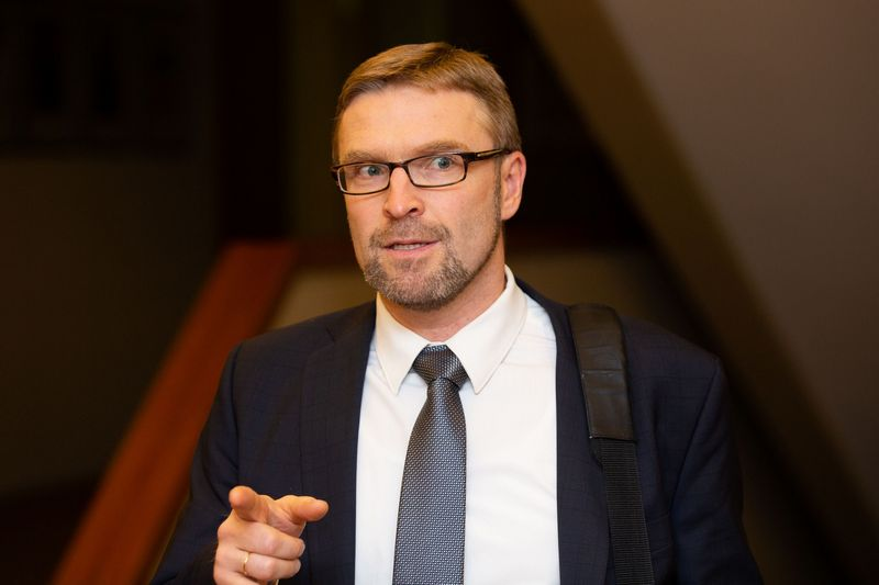 Ministras Linas Kukuraitis, socialinės apsaugos ir darbo ministras. Juditos Grigelytės (VŽ) nuotr.