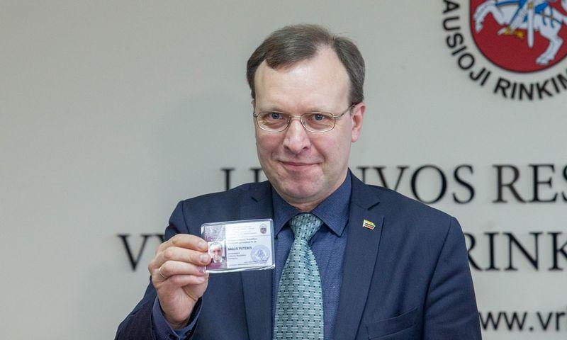 Kandidatas į prezidentus Naglis Puteikis. Juditos Grigelytės (VŽ) nuotr.