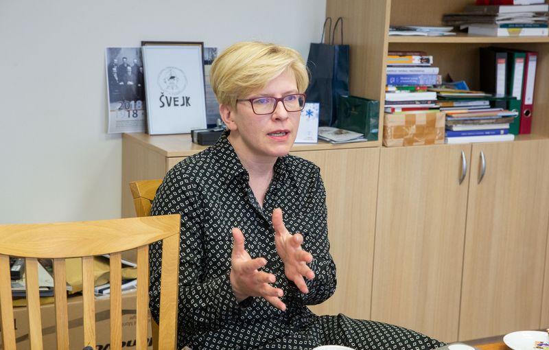 Ingrida Šimonytė, kandidatė į prezidento postą. Juditos Grigelytės (VŽ) nuotr.