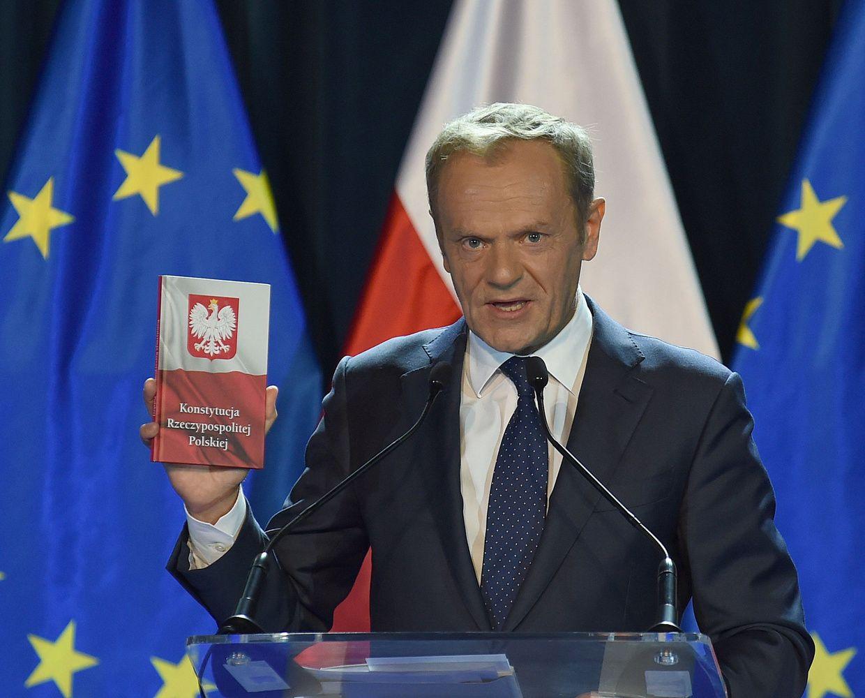 Donaldo Tusko kalba atnaujino spėliones, kad jis grįžta į Lenkijos politiką