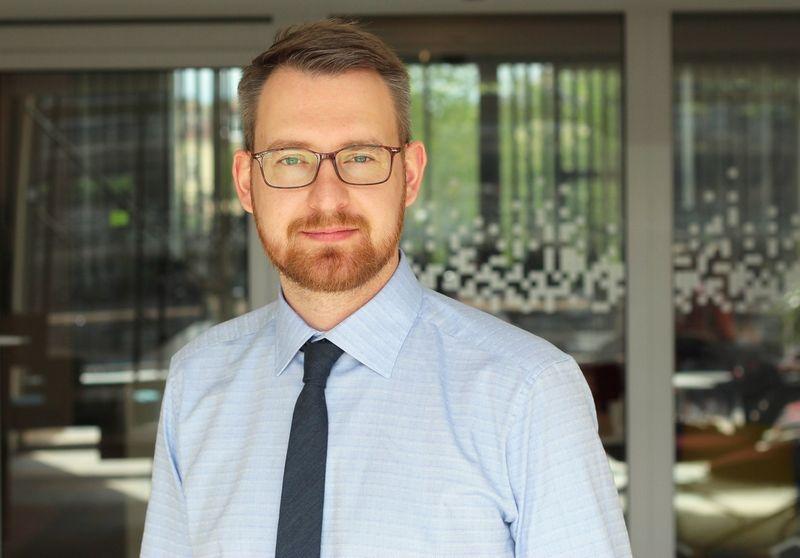 """Aivaras Teleiša, """"Blue Bridge"""" kompiuterinių tinklų sprendimų vadybininkas."""
