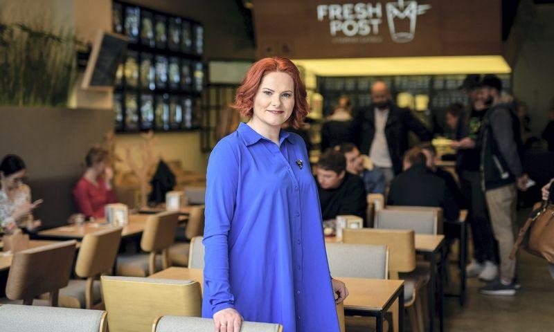 """Salotų baras """"Fresh Post"""" – panevėžietės verslininkės Ingos Tribuišienės idėja."""