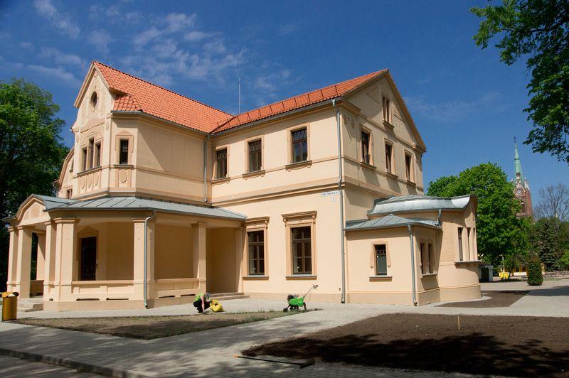 Atstatyta mūrinė Palangos kurhauzo dalis. Algimanto Kalvaičio nuotr.